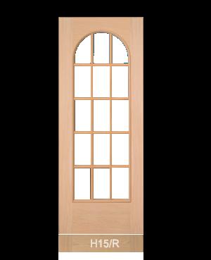 Pannello porta in tranciato modello H15R