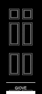 Pannello porta pantografato modello Giove