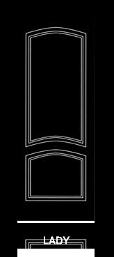Pannello porta pantografato modello Lady