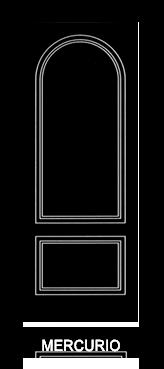Pannello porta pantografato modello Mercurio