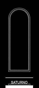Pannello porta pantografato modello Saturno