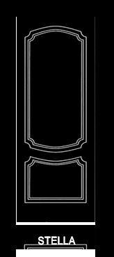 Pannello porta pantografato modello Stella